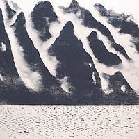 霧、桂林山水